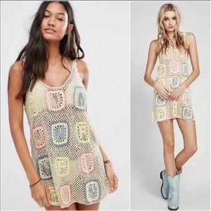 Wildfox FUN Sabrina Crochet Mini dress S
